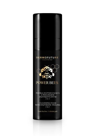 """Valančios putos su fermentų šveitikliu du viename, Dermofuture """"Power Bees"""", 150ml"""