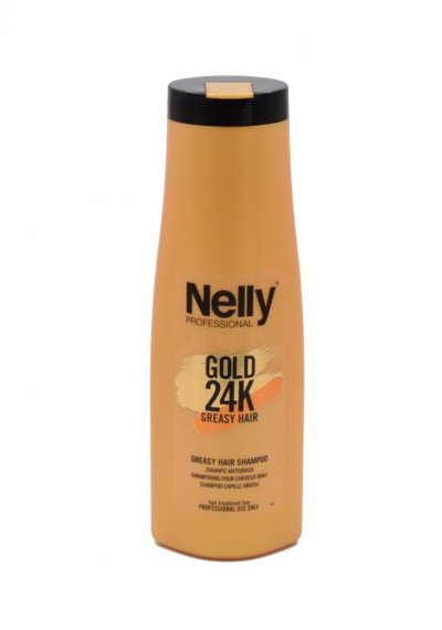 Sampunas NELLY PROFESSIONAL 24K riebiems plaukams su keratinu, 400ml
