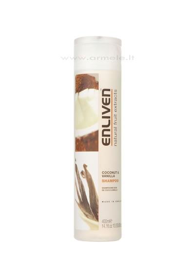 ENLIVEN  šampūnas su kokoso riešutais ir vanile